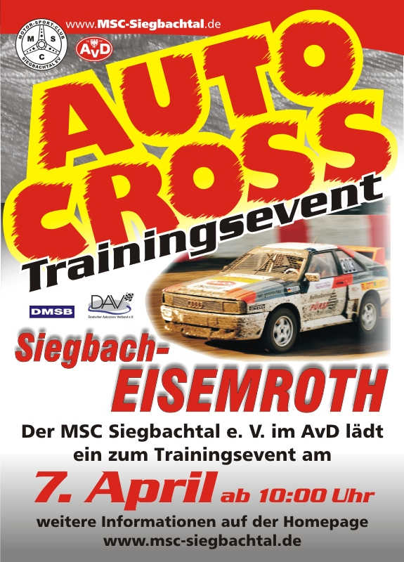 Autocross Trainingsevent Siegbach-Eisemroth 2018