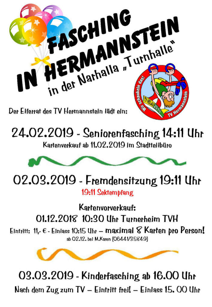 Seniorenfasching in Hermannstein 2019