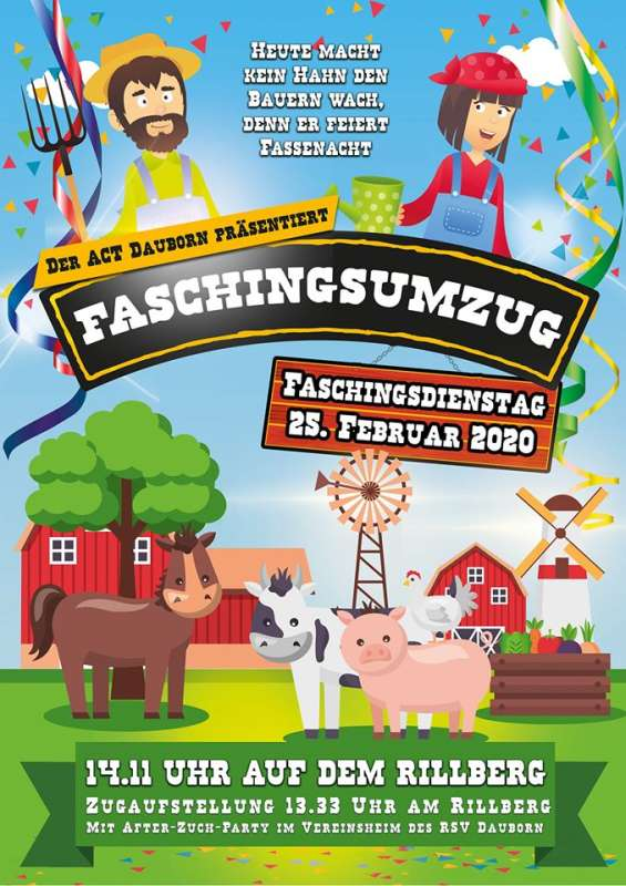 Faschingsumzug mit After-Zuch-Party in Dauborn 2020
