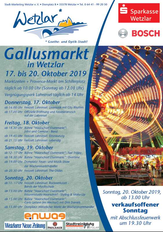 Gallusmarkt in Wetzlar 2019