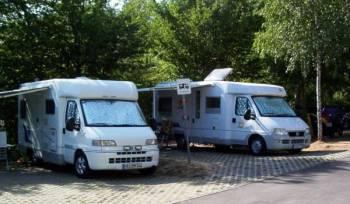 Wohnmobikplätze am Campingplatz Nidda-Stausee