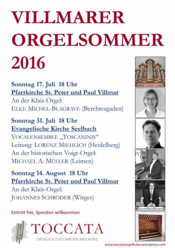 Villmarer Orgelsommer 2016