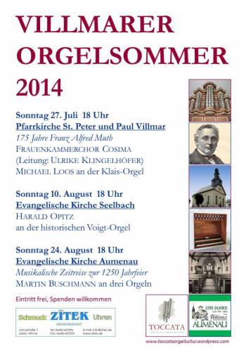 Villmarer Orgelsommer 2014