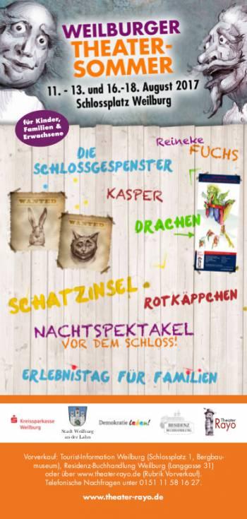 Weilburger Theatersommer 2017