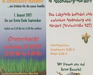 Maislabyrinth in Amöneburg-Mardorf 2017