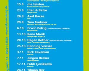 19. Marburger Kabarettherbst 2017