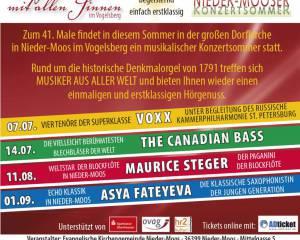 Nieder-Mooser Konzertsommer 2019