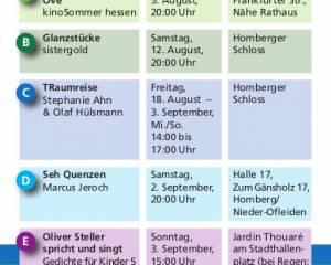 10 Jahre Homberger Kulturwochen Ohm sweet Ohm