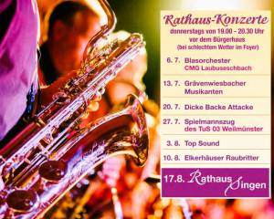 Rathauskonzerte Weilmünster 2017