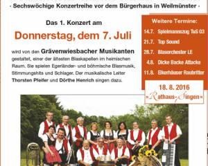 Rathauskonzerte Weilmünster 2016