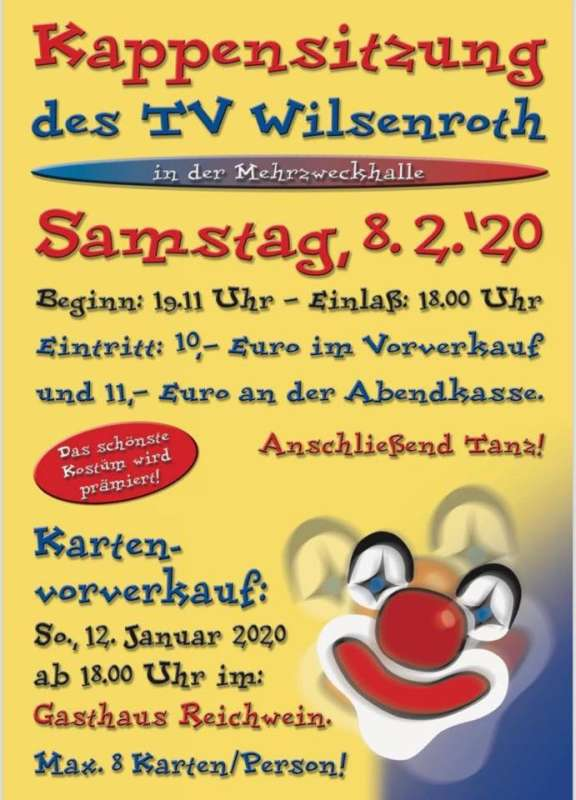 Kappensitzung TV Wilsenroth 2020