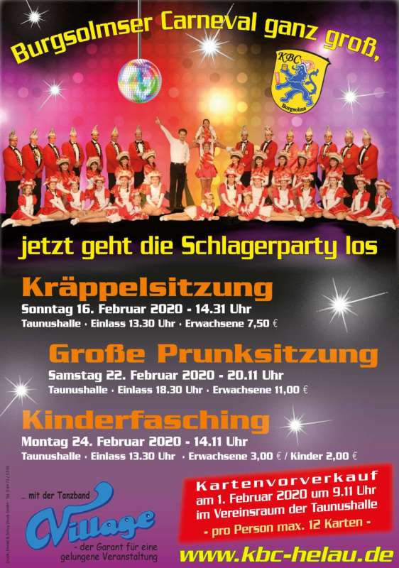 Kinderfasching Burgsolms 2020