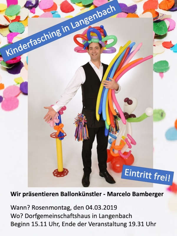 Kinderfasching in Langenbach 2019