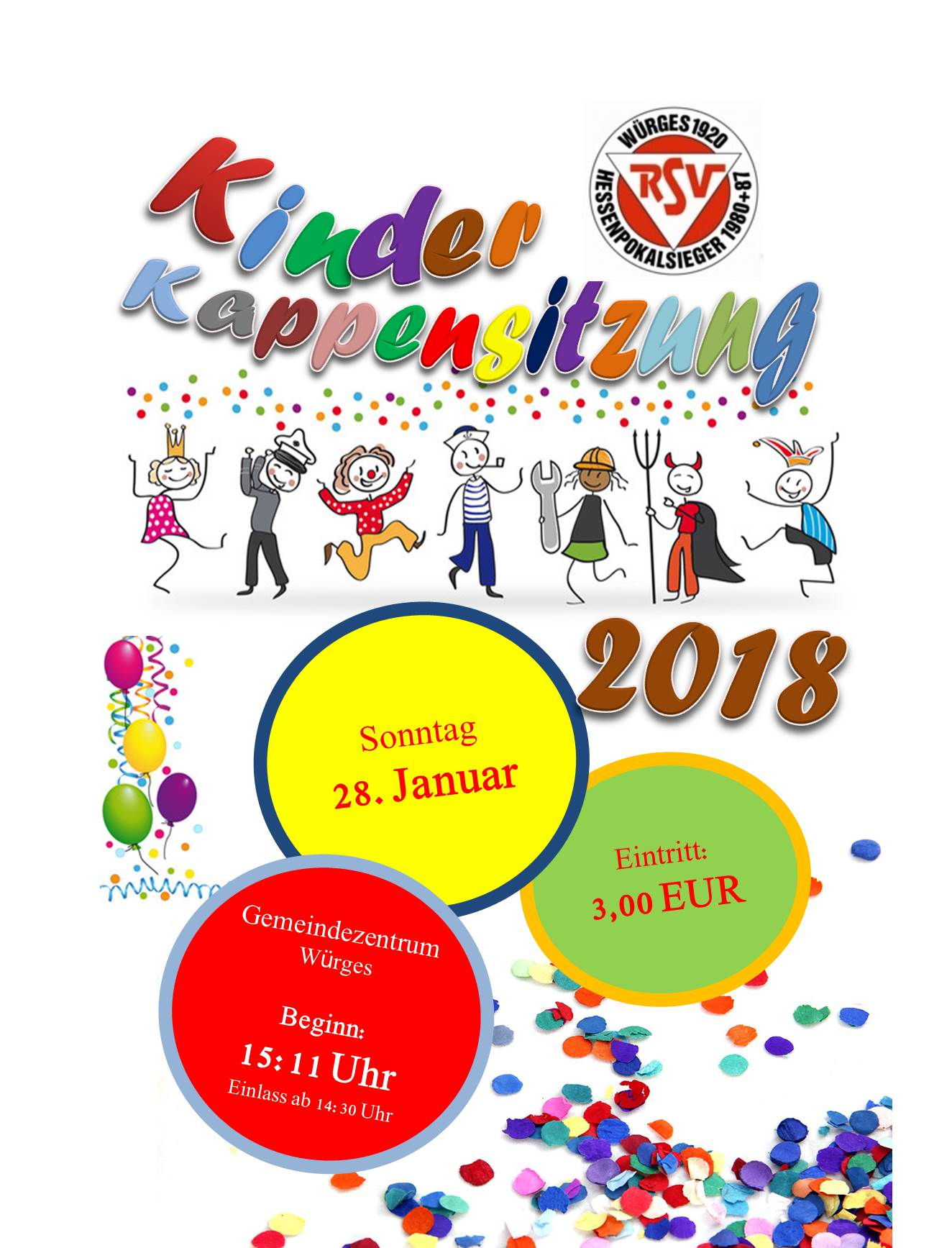 Kinderkappensitzung in Bad Camberg-Würges 2018