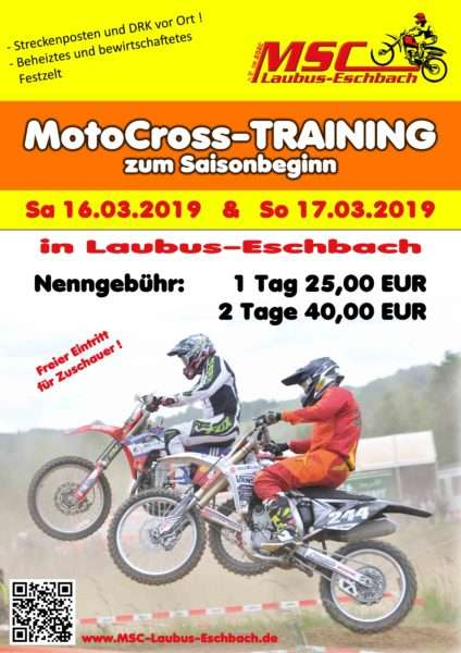 Moto-Cross-Training Laubuseschbach 2019