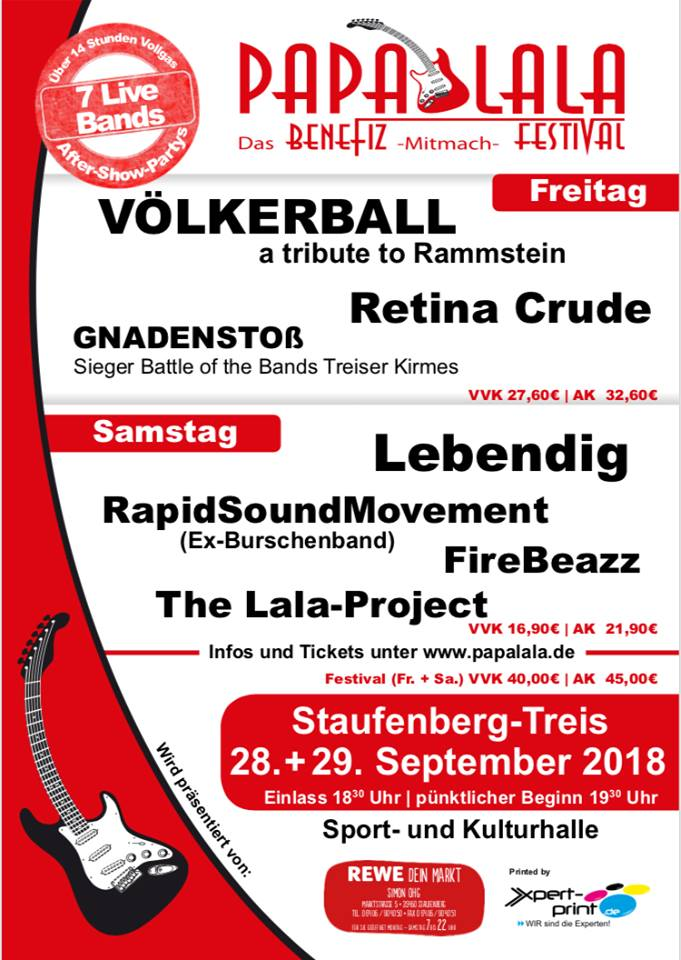 Papalala Festival 2018 in Staufenberg-Treis