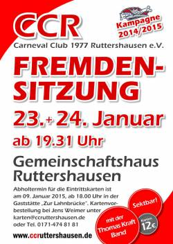 1. Fremdensitzung CC Ruttershausen 2015
