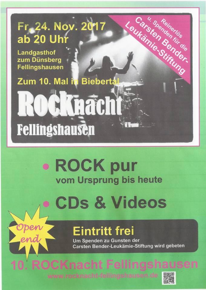 10. ROCKnacht Fellingshausen | Veranstaltung | Freizeit Mittelhessen